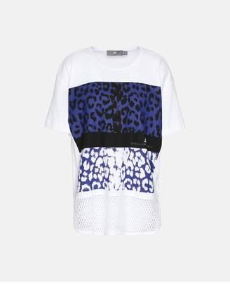adidas by Stella McCartney White Essential Leopard Tshirt