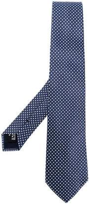 Giorgio Armani geometric embroidered tie