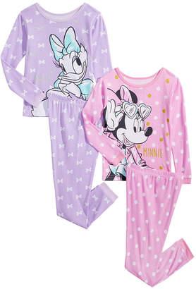 Minnie Mouse Toddler & Little Girls 4-Pc. Cotton Pajama Set