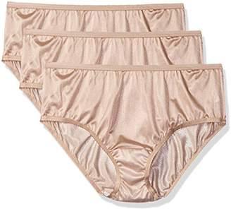 Shadowline Women's Plus Size Panties-Nylon Hipster (3 Pack)