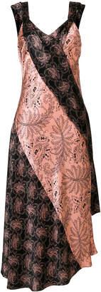 Diane von Furstenberg printed V-neck dress