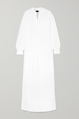 Nili Lotan Galabeya Linen Maxi Dress
