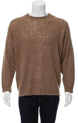 Pierre Balmain Cable Knit Crew-Neck Sweater