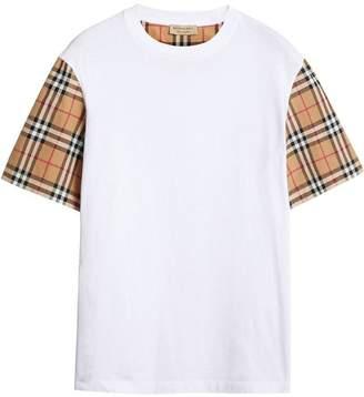 Burberry (バーバリー) - Burberry チェックスリーブ Tシャツ