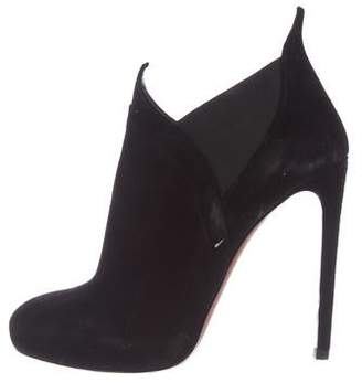Alaia Suede High-Heel Ankle Booties