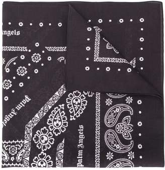Palm Angels logo paisley neck scarf