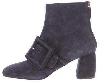 Miu MiuMiu Miu Suede Buckle Ankle Boots