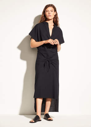 Vince Wrap Front Cotton Dress