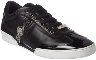 Versace Signature Medusa Crest Leather & Suede Sneaker