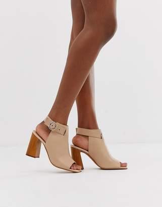 4e69cf9d8c Asos Design DESIGN Hacienda leather peep toe boots