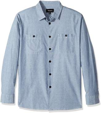 Brixton Men's Reeve Relaxed Fit Long Sleeve Woven Shirt