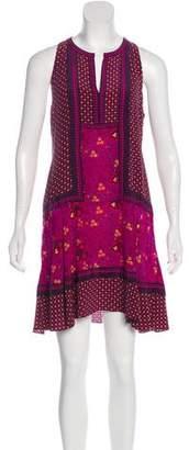 Rebecca Taylor Silk Floral Print Mini Dress