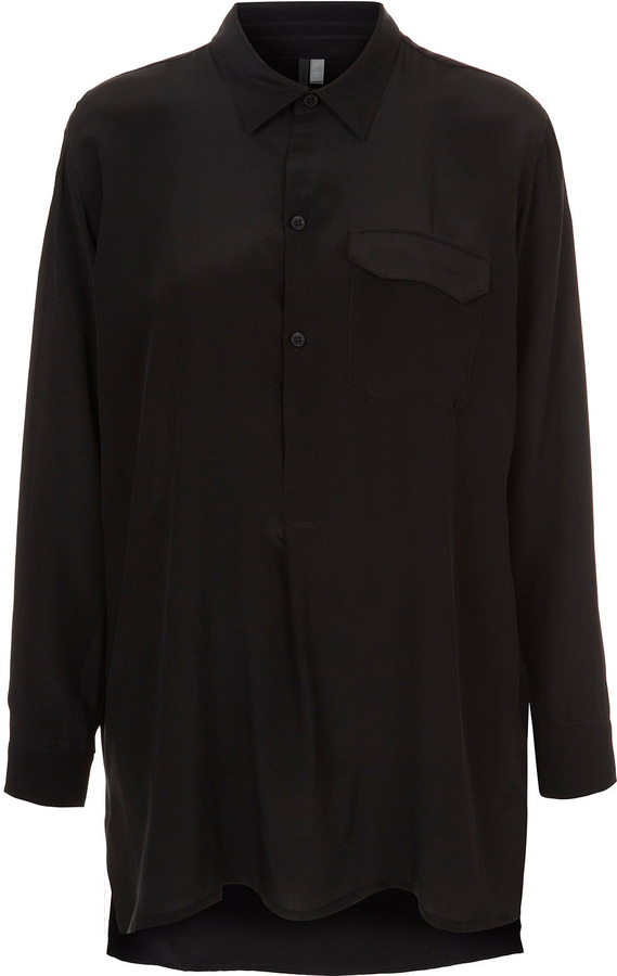 Boutique Silk Oversized Pocket Shirt