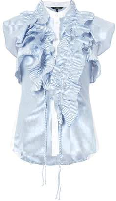 Marissa Webb ruffle striped top