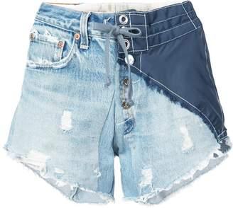 Greg Lauren denim shorts
