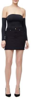 Good American Denim Mini Skirt - Black025