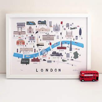 Alex Foster Illustration London Map Print