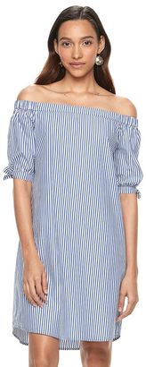 Women's Apt. 9® Striped Off-the-Shoulder Dress $50 thestylecure.com