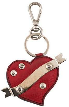 0fd7b004b3d4 Prada Saffiano Heart Keychain