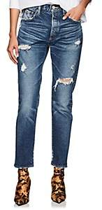 Moussy VINTAGE Women's High-Rise Tapered Skinny Jeans-Blue