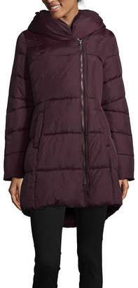 Liz Claiborne Hooded Water Resistant Heavyweight Puffer Jacket