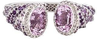 John Hardy 18K Multistone & Diamond Lavender Dragon Cinta Kick Cuff