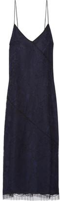 Jason Wu - Guipure Lace Slip Dress - Navy $1,695 thestylecure.com