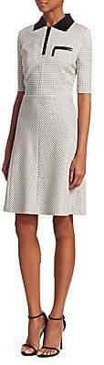 Piazza Sempione Women's Grid-Check Polo Dress