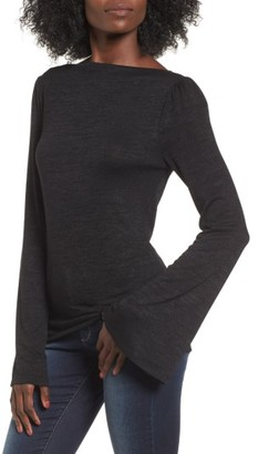 Women's Leith Slim Bell Sleeve Tee $45 thestylecure.com