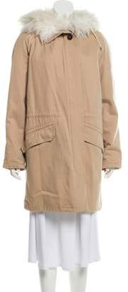 Yves Salomon Shearling Trim Coat