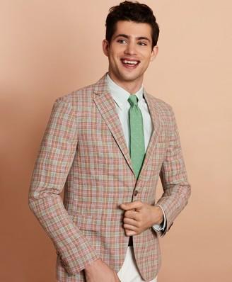 Brooks Brothers Plaid Linen Sport Coat