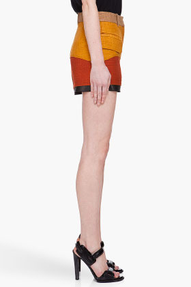 Proenza Schouler Tweed Patchwork Shorts