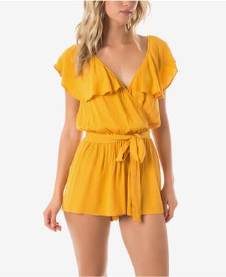 92b66e89e58f O Neill Juniors  Ruffled Romper Cover-Up Women Swimsuit