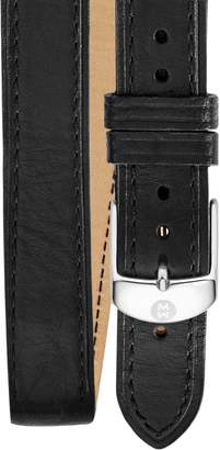 Michele 16mm Double Wrap Leather Watch Strap