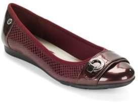 Anne Klein Azi Patent Cap-Toe Flats