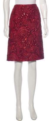Dries Van Noten Brocade Knee-Length Skirt