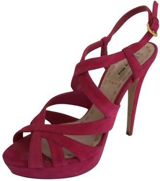 Miu Miu Velvet sandals