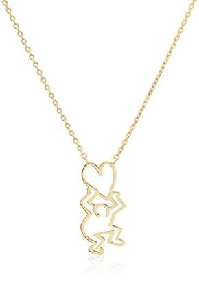 Keith Haring [キース・ヘリング ハンギングハートネックレス HRSN001150AU
