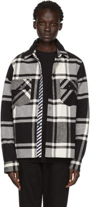 Off-White Black and Flannel Stencil Shirt