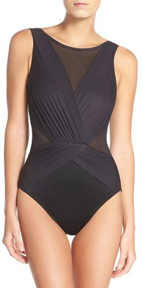 Women's Miraclesuit 'Solid Palma' One-Piece Swimsuit $166 thestylecure.com