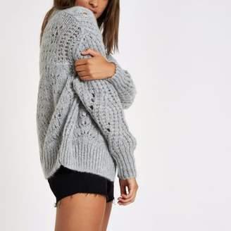River Island Grey knitted cardigan