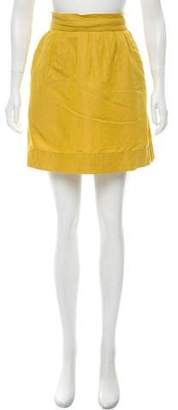 Robert Rodriguez Linen Blend Mini Skirt
