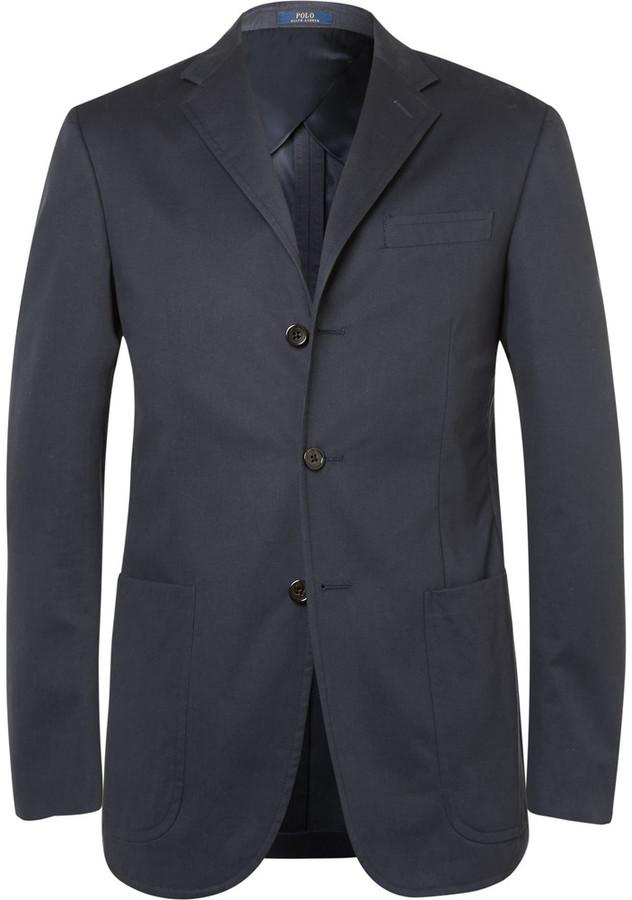 Polo Ralph LaurenPolo Ralph Lauren Navy Slim-Fit Cotton Blazer