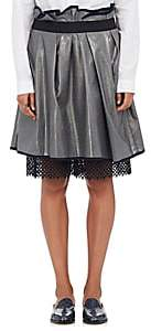 Kolor WOMEN'S PEEKABOO-HEM PLEATED SKIRT - GRAY SIZE 1 JP