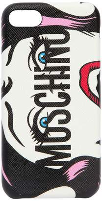 Moschino Eyes Logo Printed Iphone 8 Cover