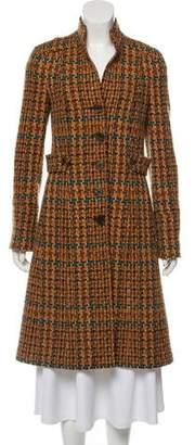 Etro Mandarin Collar Wool Coat