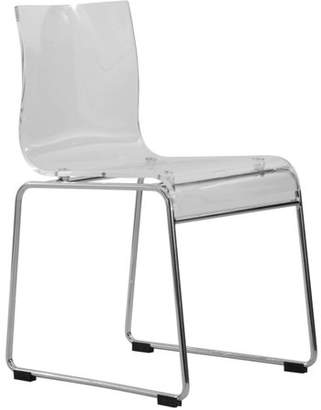 clear LeisureMod Lima Modern Acrylic Chair,