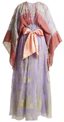 Zandra Rhodes Summer Collection The 1973 Field Of Lilies Gown - Womens - Purple Multi