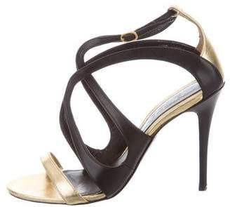 Alexander McQueen Metallic Multistrap Sandals