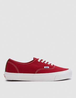 Vans Vault By OG Authentic LX in Chili Pepper